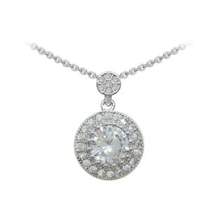 Tipperary Crystal Round Pave Pendant