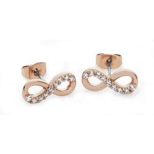 Tipperary Crystal Part Stone Infinity Earrings