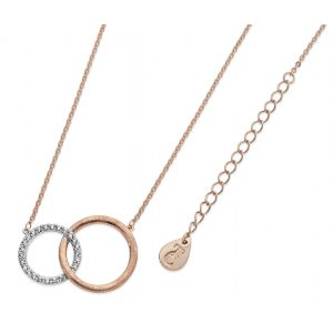 Tipperary Crystal Matt & Pave Circles Pendant