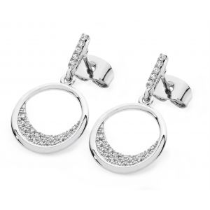 Tipperary Crystal Floating Moon Earrings