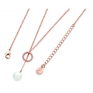 Tipperary Crystal Circle Pearl Necklace