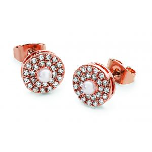 Tipperary Crystal Pearl Center Earrings