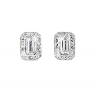Tipperary Crystal White Emerald Earrings