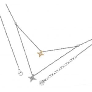 Tipperary Crystal Double Star Necklace