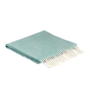McNutt of Donegal Spearmint Herringbone Lambswool Scarf