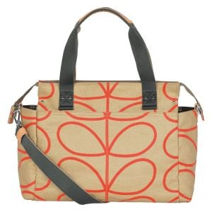 Orla Kiely Zip Messenger Baby Bag