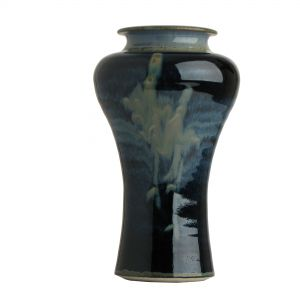 Louis Mulchay Shouldered Vase Navy