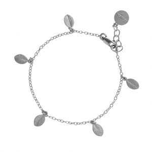 Chupi 13 Leaves in the Forest Silver Bracelet