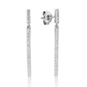 Waterford Jewellery Straight Line Crystal Earrings