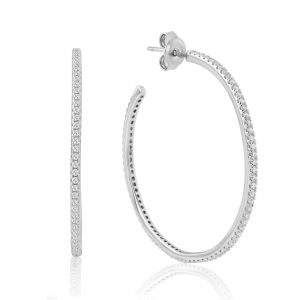 Waterford Jewellery Crystal Hoop Earrings