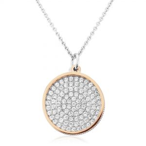 Waterford Jewellery Circle & White Crystal Pendant