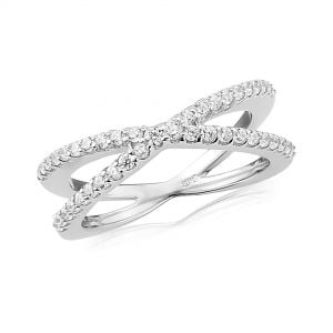 Waterford Jewellery Crystal Crossover Ring