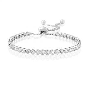 Waterford Jewellery Silver Crystal Tennis Bracelet