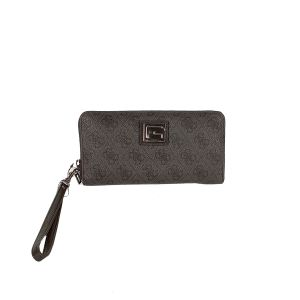 Guess Valy Coal coloured all round Zip Wallet