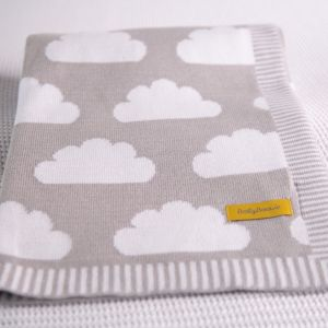 Babyboo Clouds Gry Blanket