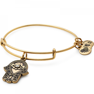Alex and Ani Hand of Fatima III Gold Bangle