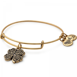 Alex and Ani Four Leaf Clover IV Gold Bangle