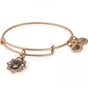 Alex and Ani Because I Love You Friend III Gold Bangle