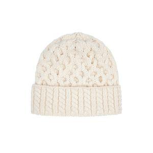 Irelands Eye Aran Luxe Cream Hat