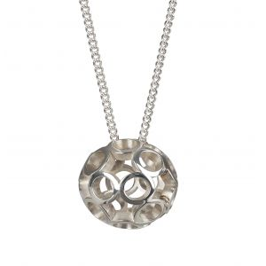 Maureen Lynch Daisy Globe Ball Silver Pendant