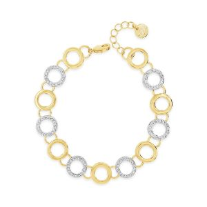 Absolute 2-Tone Circle Bracelet