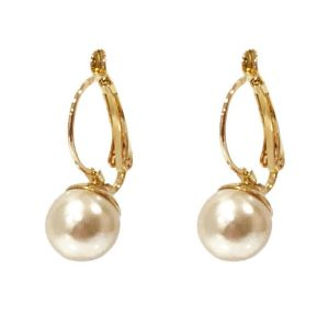 Absolute Cream/Gold Pearl Drop Earrings