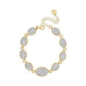 Absolute Diamond Oval Gold Bracelet