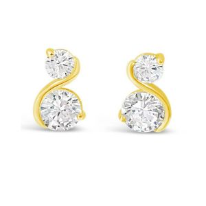 Absolute Gold S Shape Earrings