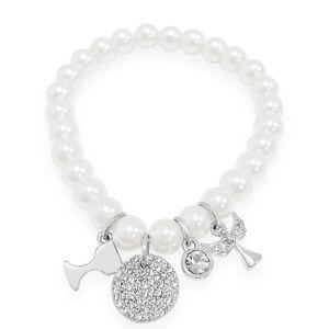 Absolute Kids Pearl Charm Bracelet