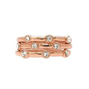 Absolute Large Rose Gold Triple Ring