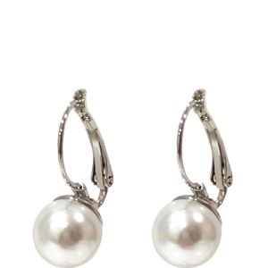Absolute Pearl Drop Earrings in White