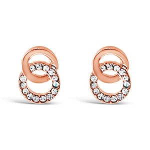 Absolute Rose Gold Double Circle Earrings