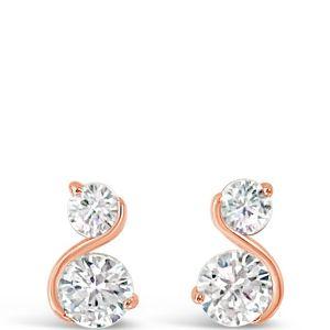 Absolute Rose Gold S Shape Earrings