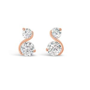 Absolute Rose Gold S Shape Earrings