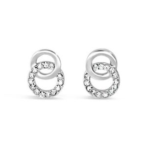 Absolute Silver Double Circle Earrings