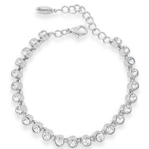 Absolute Silver Slim Tennis Bracelet