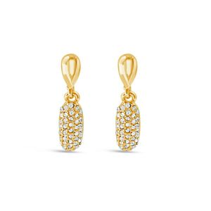 Absolute Sparkle Gold Drop Earrings