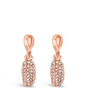 Absolute Sparkle Rose Gold Drop Earrings