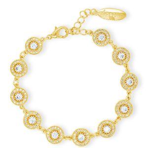 Absolute Vintage Cluster Gold Bracelet