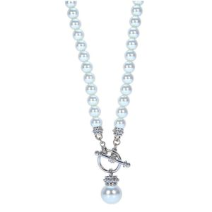 Absolute White Pearl Fob Necklace