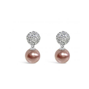 Absolute Crystal Encrusted Pink Pearl Earrings