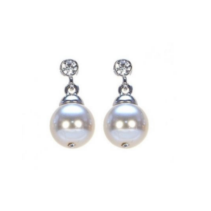 Absolute Jewellery Pearl Crystal Drop Earring