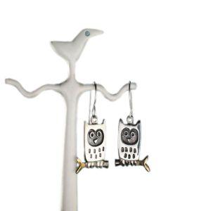 Alan Ardiff Little Owl Earrings