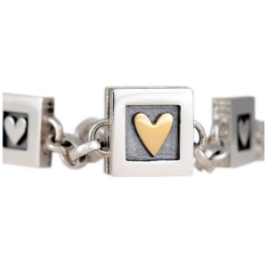 Alan Ardiff  Heart Of Gold Bracelet (Three Hearts)