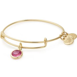Alex and Ani Rose October Gold Bangle