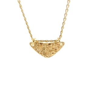Andrea Mears Gold Little Shield Necklace