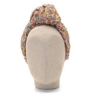 Aoife Harrison Design Gold Tweed Headband  front