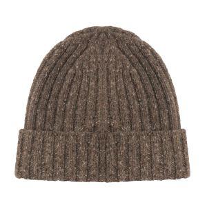 Irelands Eye Aran Ribbed Rocky Ground Gents Hat