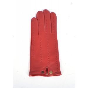 Ashwood Red Stitch Detail Leather Gloves