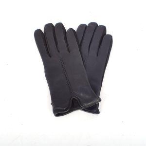 Ashwood Stitch Navy Leather Gloves